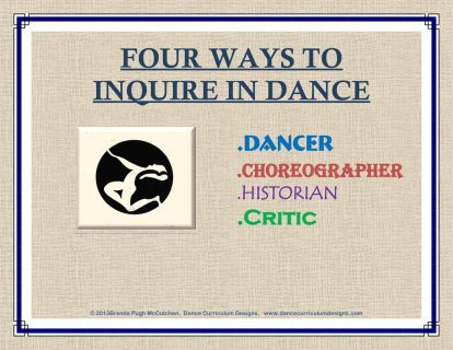 """Four Ways to Inquire in Dance"""