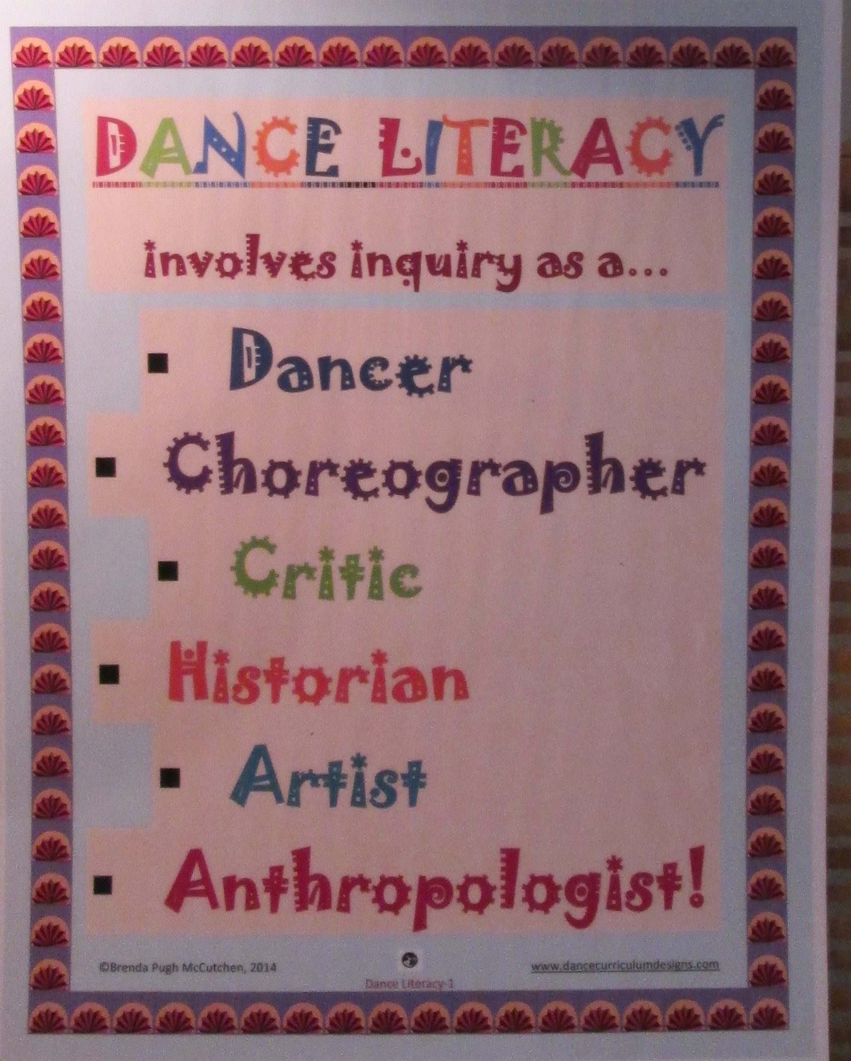 Dance Literacy Poster
